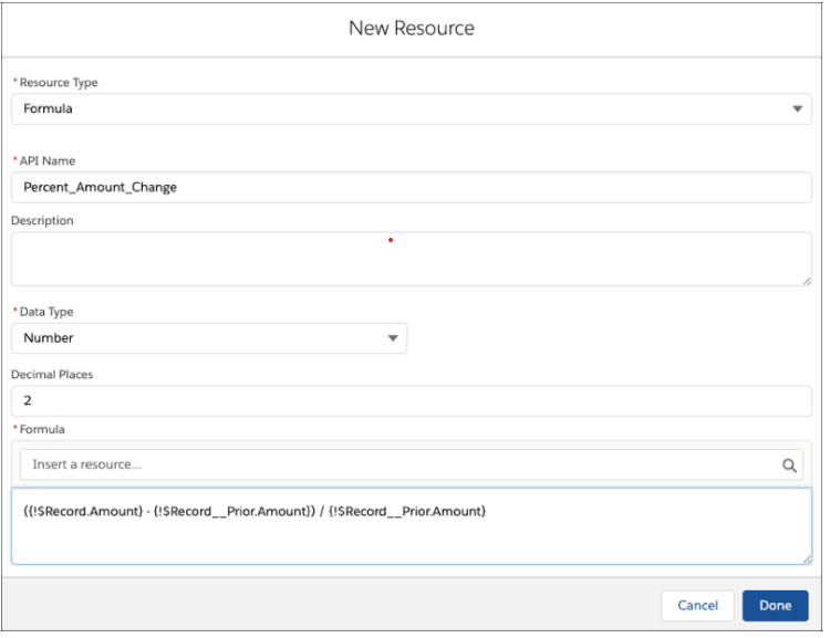 Screenshot of Access Prior Values of Records in flow builder